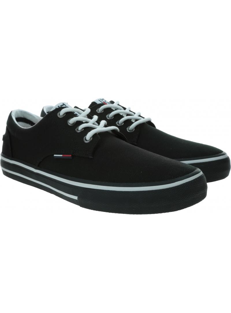 Czarne Trampki Tommy Hilfiger Tommy Jeans Black EM0EM00001 990