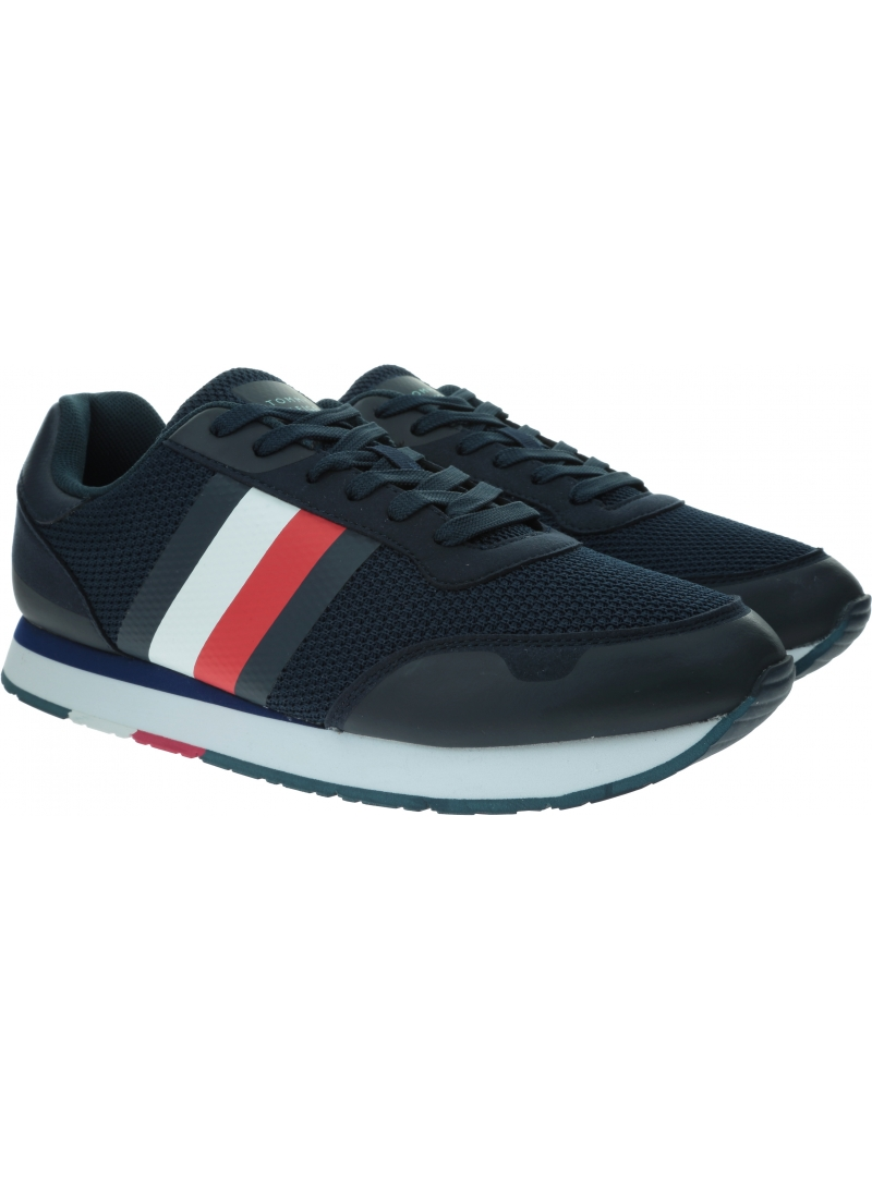 Sneakersy Męskie TOMMY HILFIGER Corporate Material Mix Runner FM0FM02688