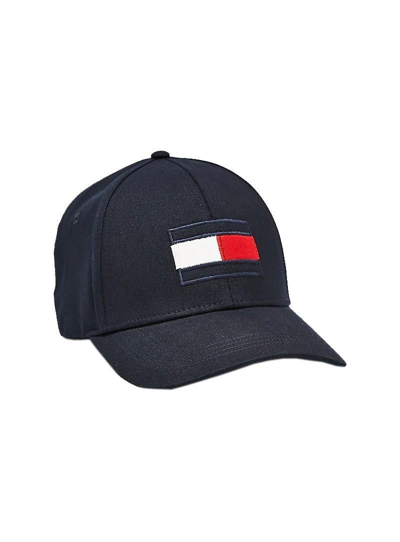 Granatowa Czapka z Daszkiem TOMMY HILFIGER Big Flag Cap AM0AM04508 DW5