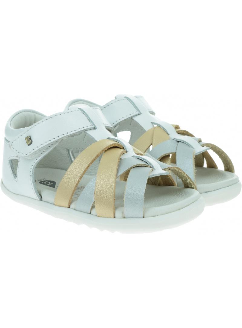 Białe Sandały BOBUX Tropicana White Gold Silver 729810