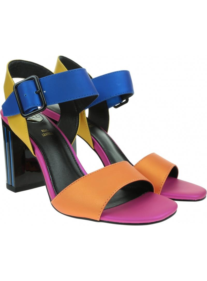 Kolorowe Sandały EXE Tereza 320 Fuxia