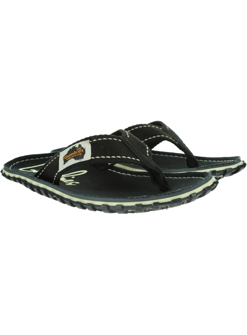 Japonki GUMBIES Islander Canvas Black
