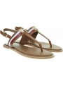 Sandały Damskie TOMMY HILFIGER Corporate Leather Flat Sandal FW0FW04840 GU9