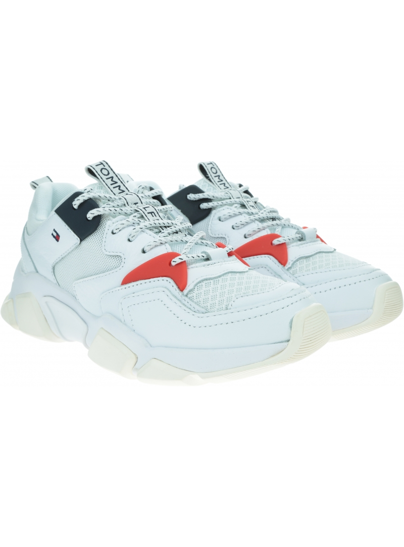 Sneakersy Damskie TOMMY HILFIGER Wmn Chunky Mixed Textile Trainer