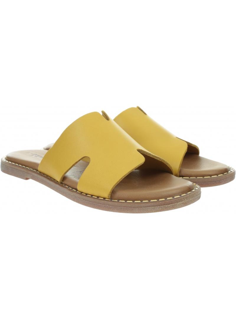 Żółte Klapki TAMARIS 1-27135/24 Yellow 602