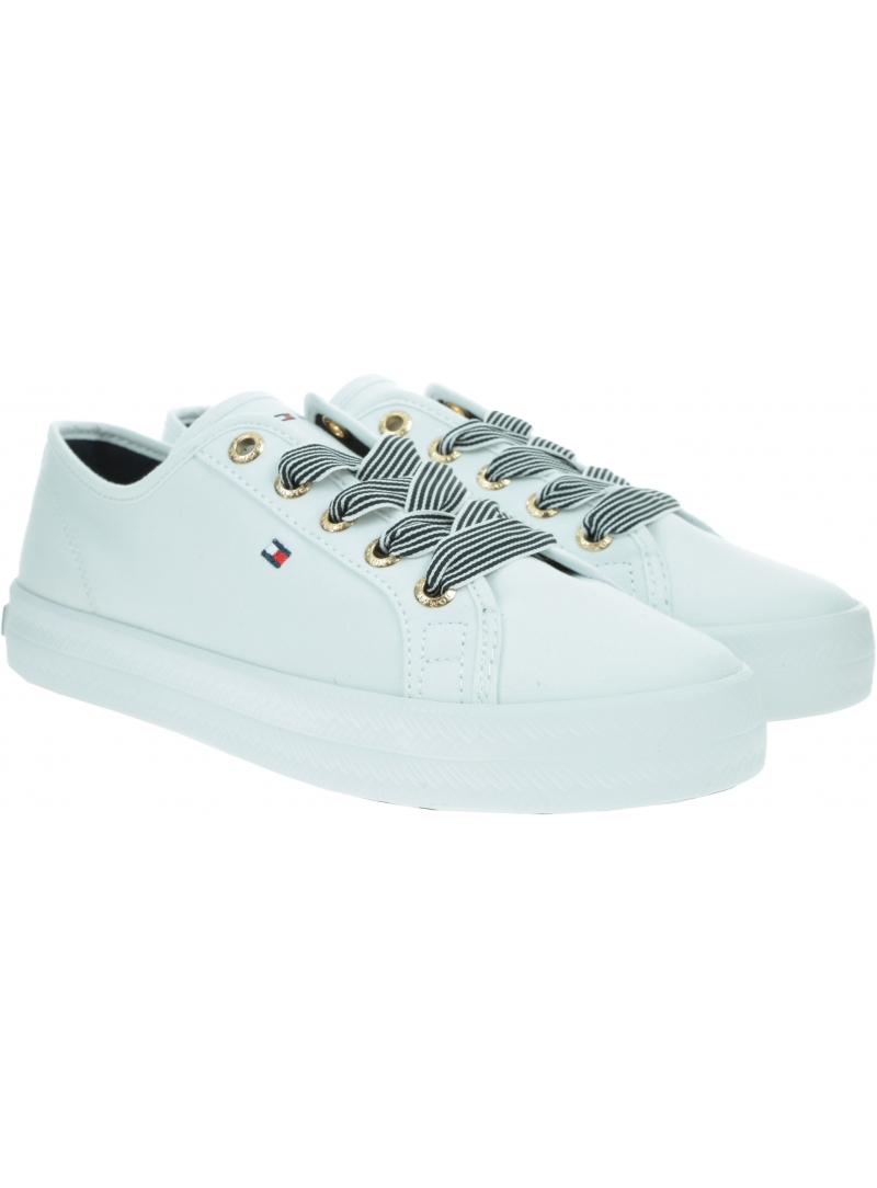 Sneakersy Damskie TOMMY HILFIGER Essential Nautical Sneaker FW0FW04848 YBS