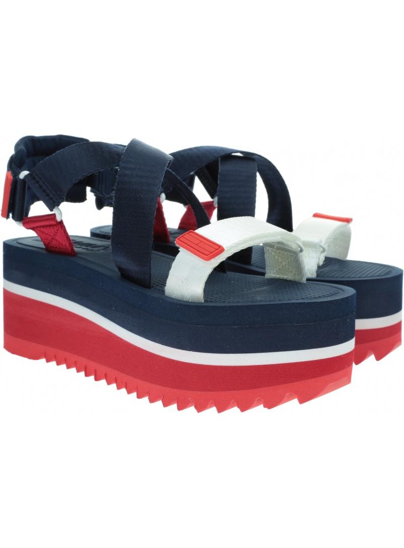Sandały Damskie TOMMY HILFIGER Pop Color Flatform Sandal EN0EN00847 C87