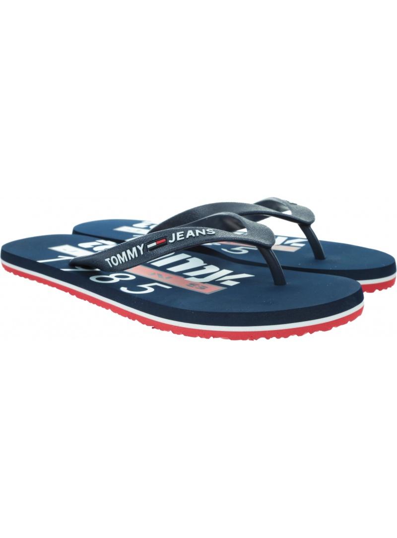 Japonki Męskie TOMMY HILFIGER Tommy Jeans Beach Sandal Print EM0EM00430 0KP