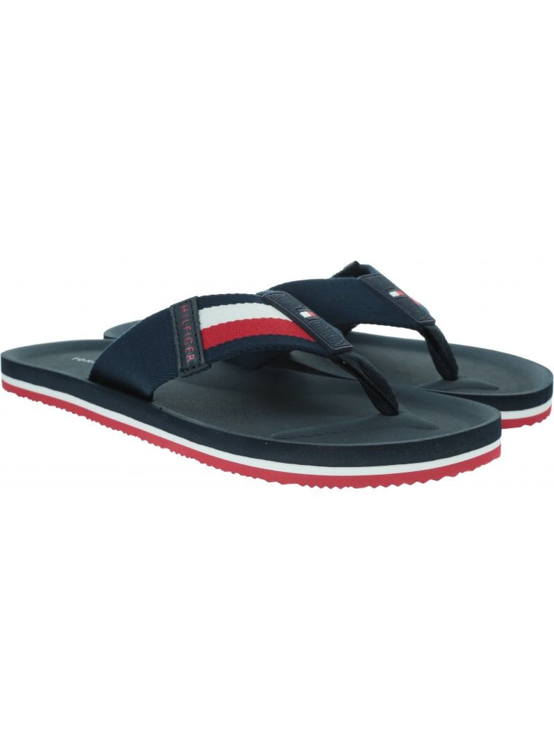 Japonki Męskie TOMMY HILFIGER Sporty Corporate Beach Sandal FM0FM02754 DW5
