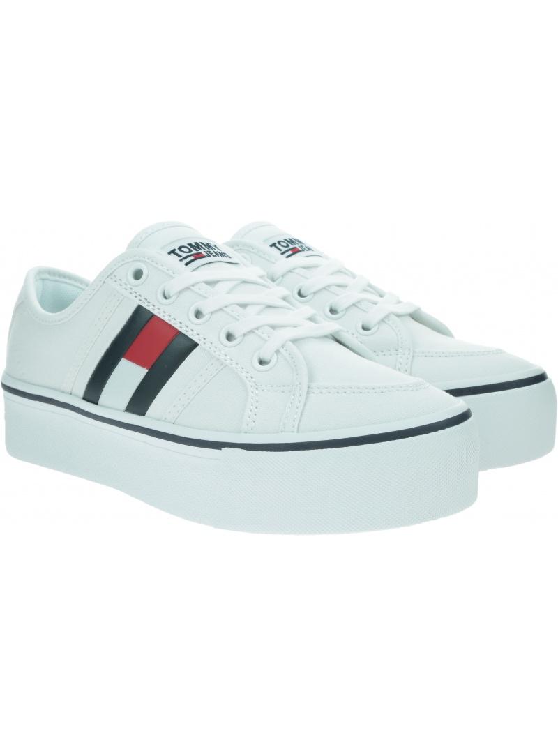 Sneakersy Damskie TOMMY JEANS Flatform Flag Sneaker EN0EN00944 YBR