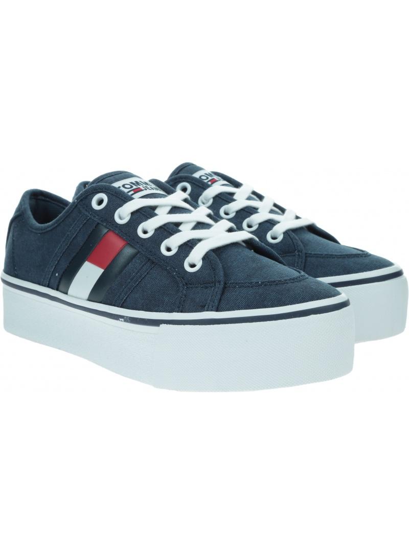 Sneakersy Damskie TOMMY JEANS Flatform Flag Sneaker EN0EN00944 C87