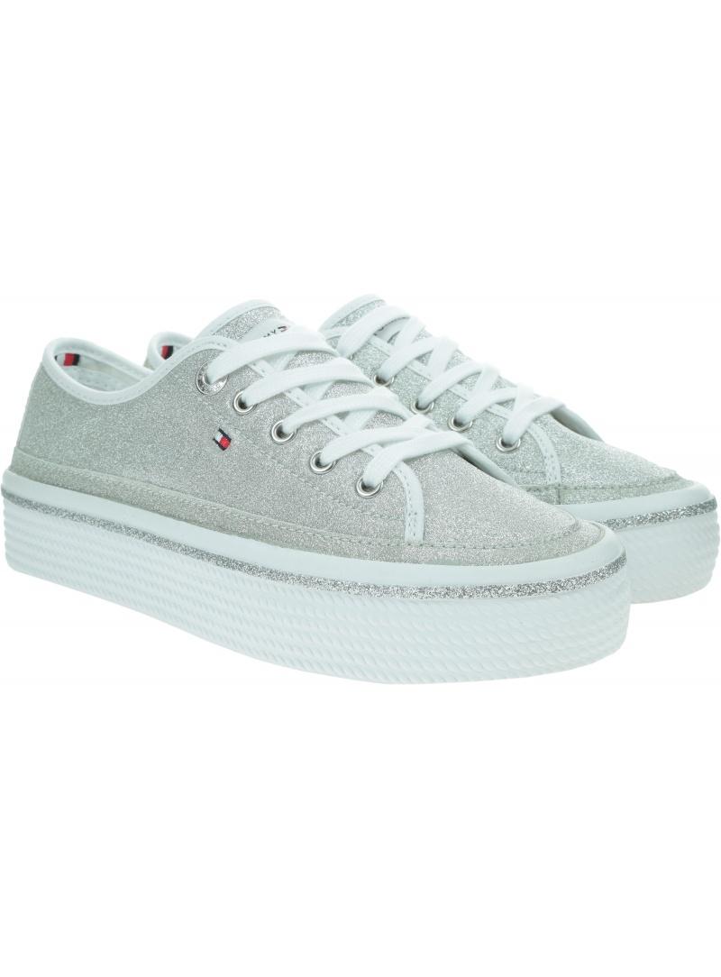 TOMMY HILFIGER Dressy Glitter Flatform Sneaker FW0FW05001 0IM