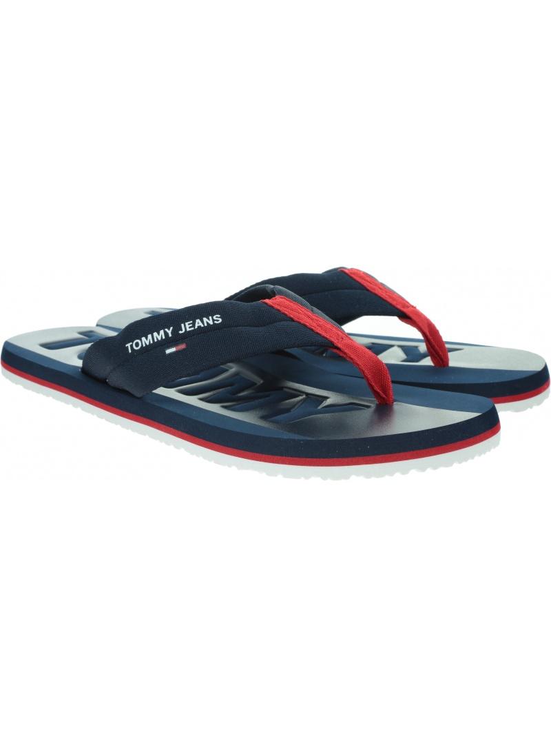 Japonki Męskie TOMMY JEANS Tommy Jeans Webbing Beach Sandal EM0EM00474 C87