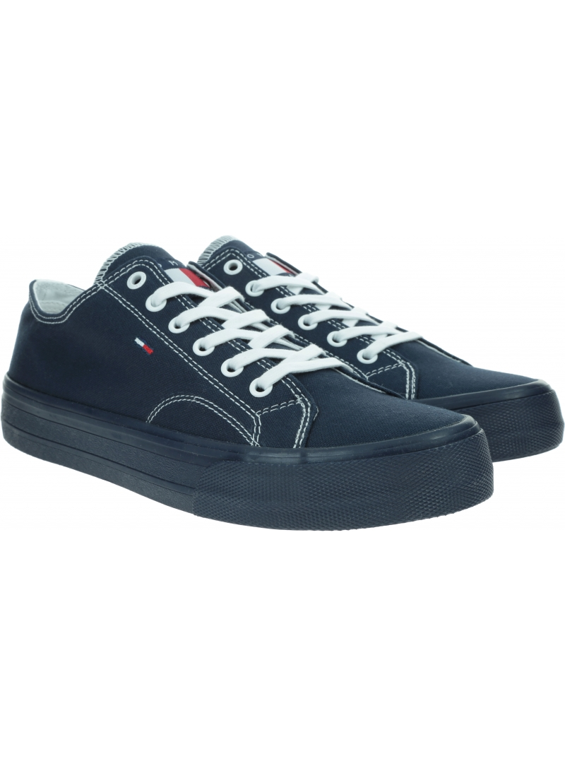 Trampki Męskie TOMMY JEANS Long Lace Up Vulc EM0EM00486 C87