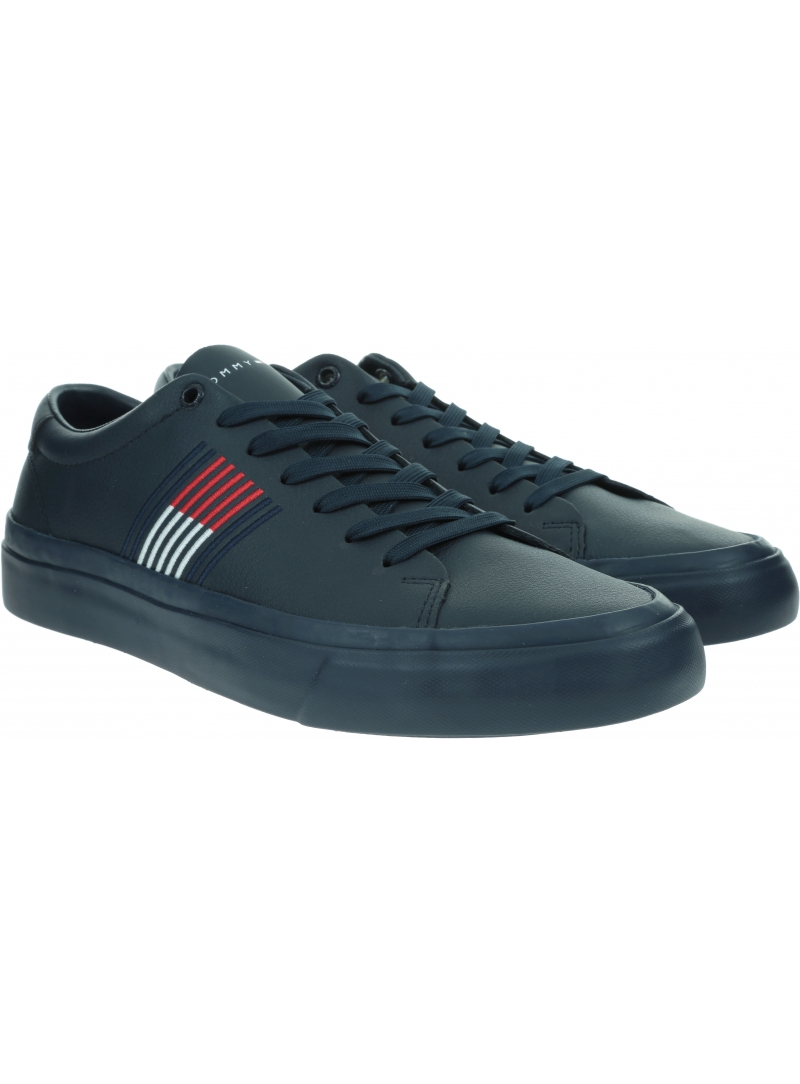 Sneakersy Męskie TOMMY HILFIGER Corporate Leather Sneaker FM0FM02853 0K9