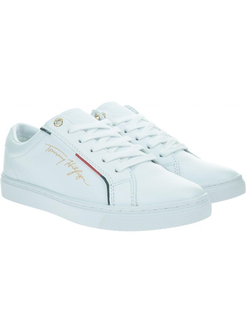Skórzane Sneakersy Damskie TOMMY HILFIGER Signature Sneaker FW0FW05015 YBR