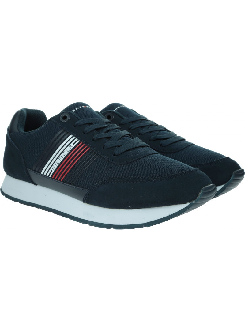 Sneakersy Męskie TOMMY HILFIGER Corporate Material Mix Runner FM0FM02835
