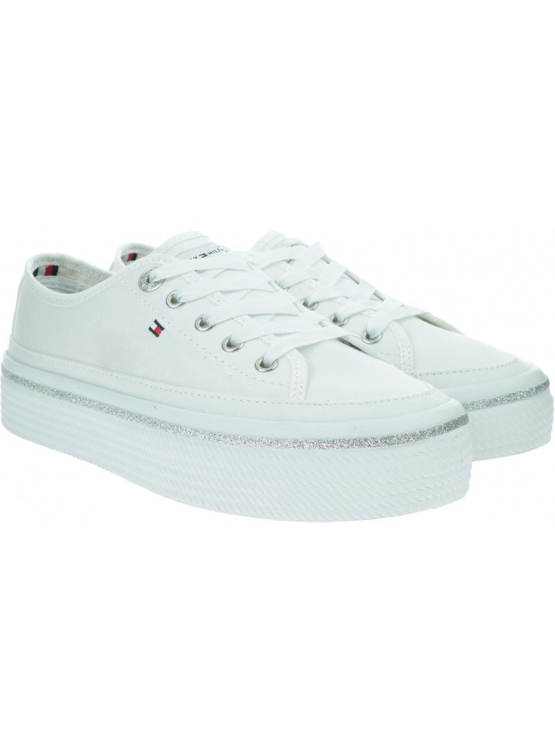 TOMMY HILFIGER Glitter Detail Flatform Sneaker FW0FW05013 YBR