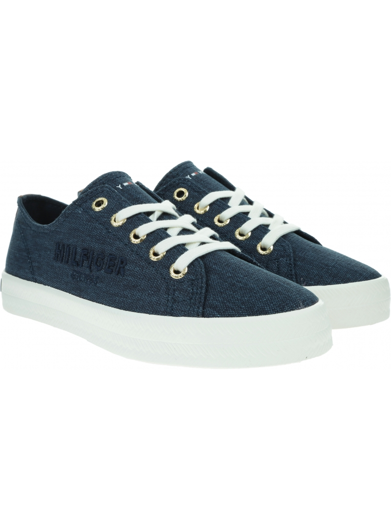 Sneakersy Damskie TOMMY HILFIGER Tommy Basic Sneaker FW0FW05123 DW5