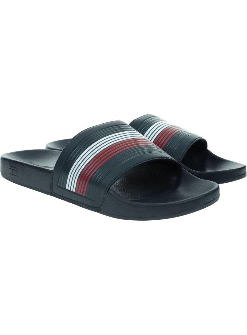 Granatowe Klapki TOMMY HILFIGER Seasonal TH Poolside FM0FM02873 DW5