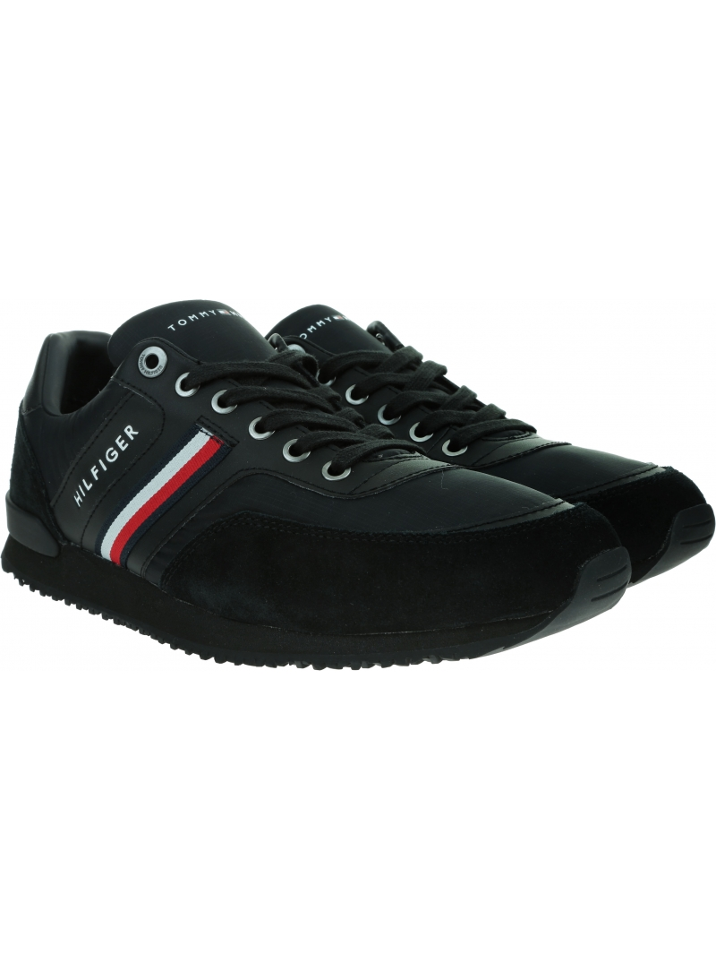 Sneakersy Męskie TOMMY HILFIGER Iconic Material Mix Runner FM0FM02847 BDS