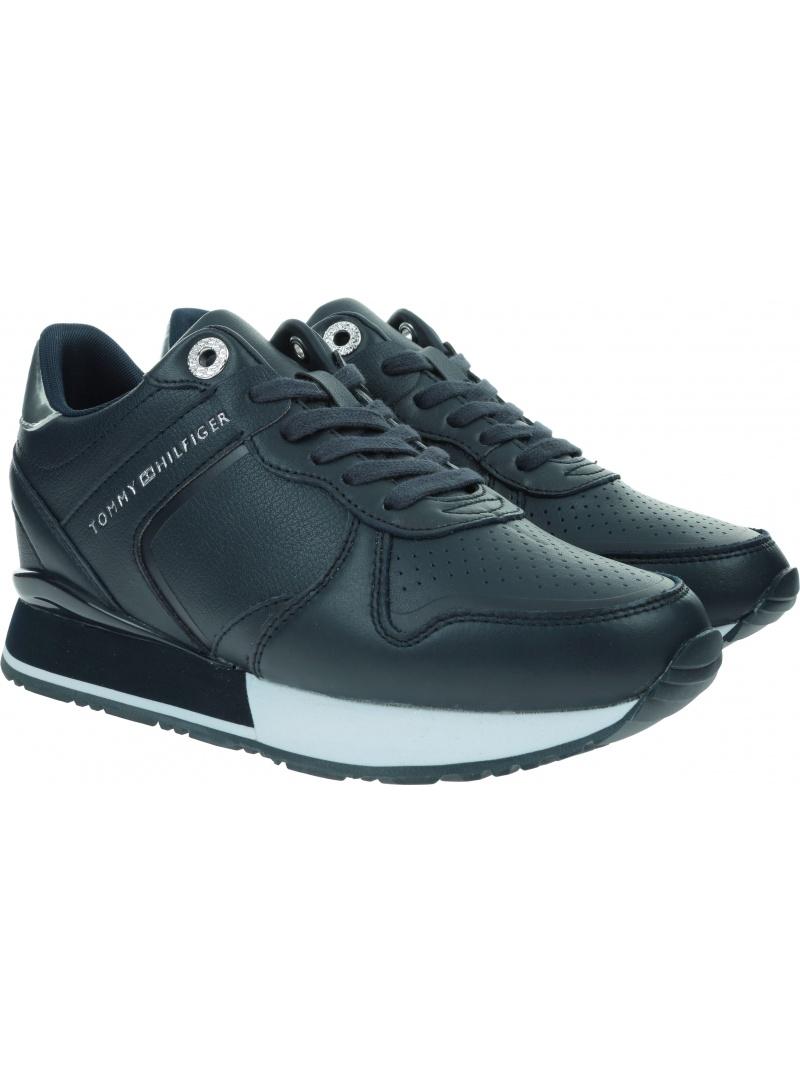 Sneakersy Damskie TOMMY HILFIGER Dressy Wedge Sneaker FW0FW05016 DW5