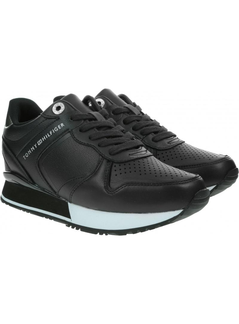 Sneakersy Damskie TOMMY HILFIGER Dressy Wedge Sneaker FW0FW05016 BDS