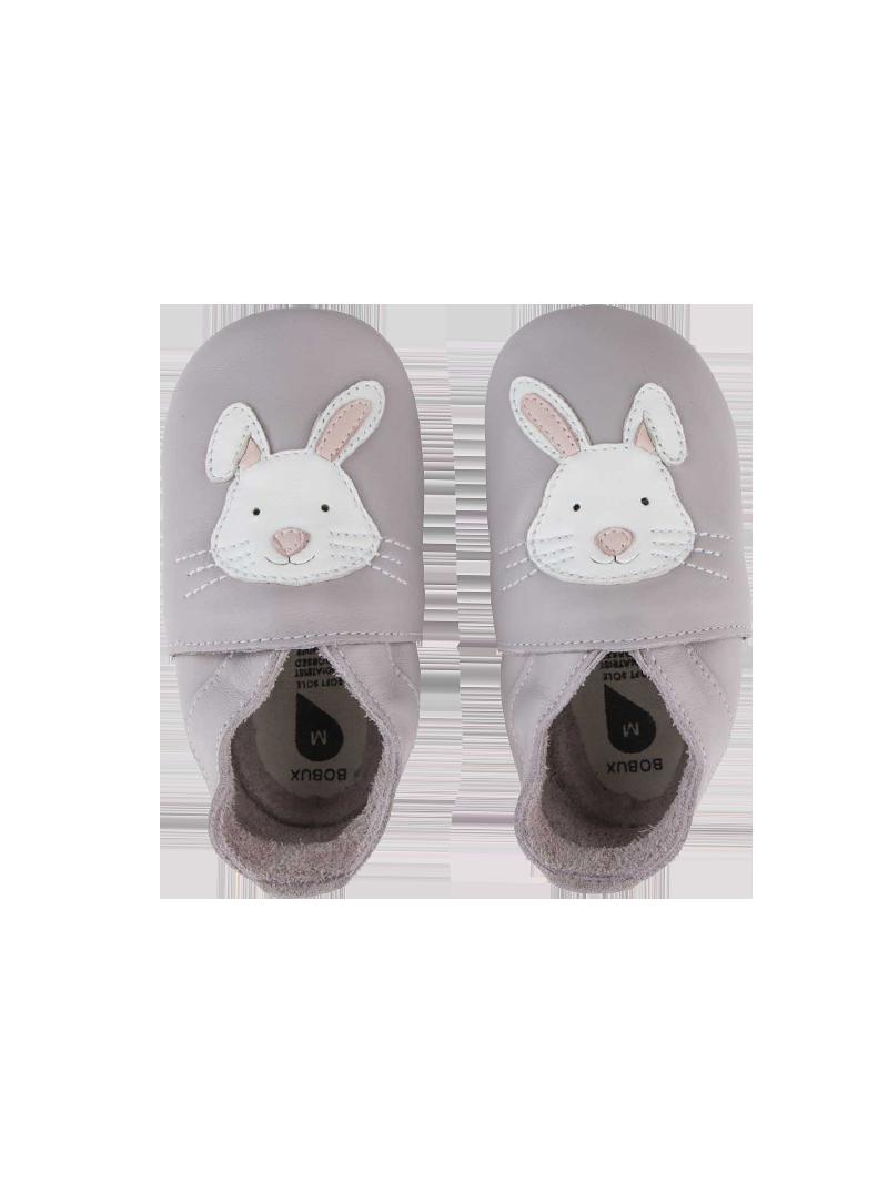 Kapcie z Zajączkiem BOBUX 1000-015-15 Rabbit Lilac Soft Sole
