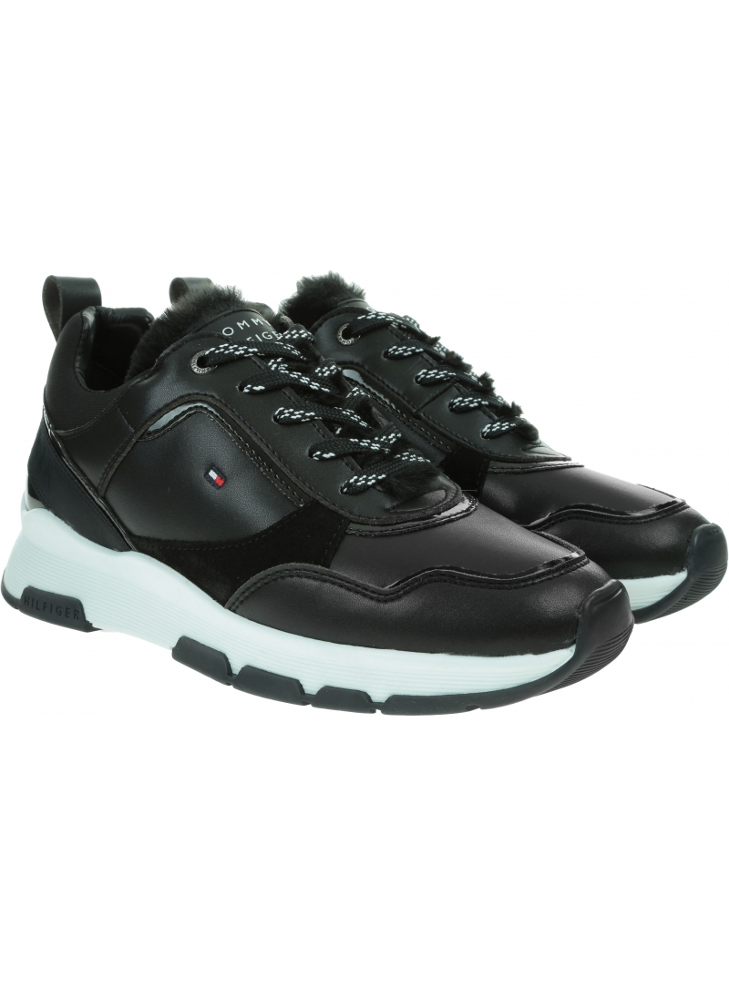 Sneakersy z Futerkiem TOMMY HILFIGER Sporty Chunky Warm Sneaker FW0FW05211
