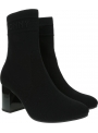 Czarne Botki TOMMY HILFIGER Tommy Knit Mid Heel Boot FW0FW04974 BDS