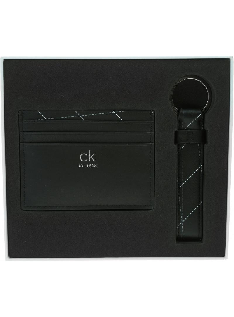 Zestaw Portfel na Karty + Breloczek CALVIN KLEIN K50K506121 BAX