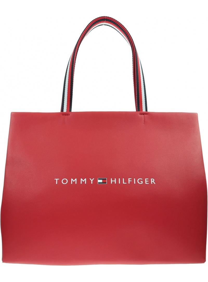 Czerwona Torebka TOMMY HILFIGER Tommy Shopping Bag AW0AW08731 XAF