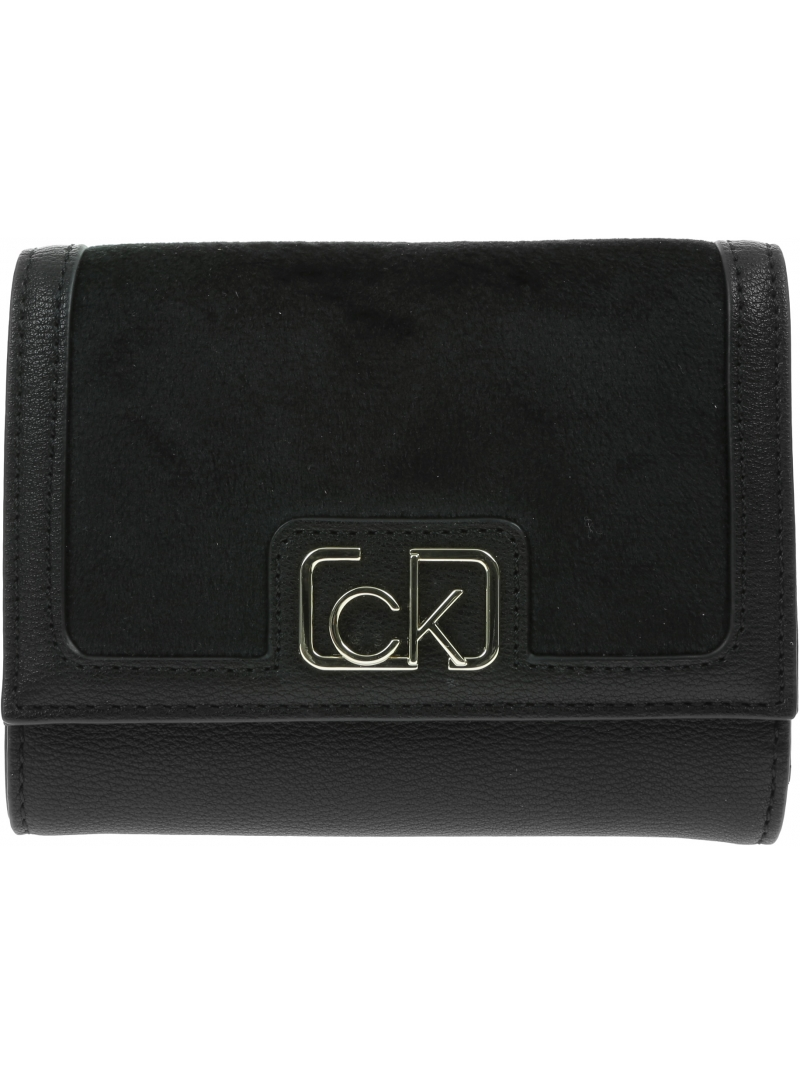 Portfel Damski CALVIN KLEIN Trifold Wallet K60K607431 BAX
