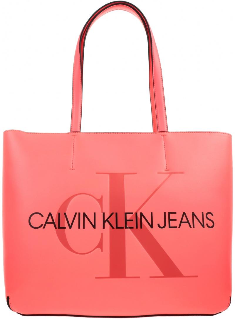 Neonowa Torebka CALVIN KLEIN Shopper 29 K60K607200 PNK